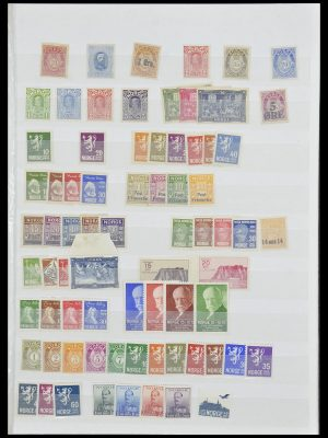 Postzegelverzameling 33872 Noorwegen 1878-1995.