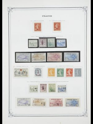 Postzegelverzameling 33900 Frankrijk 1849-1966.