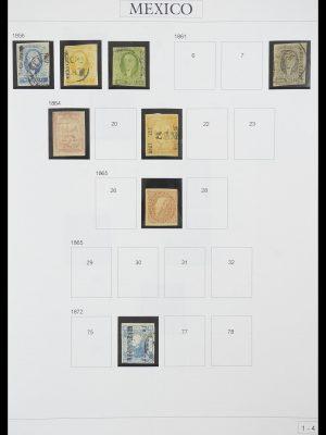 Postzegelverzameling 33922 Mexico 1856-1980.
