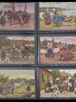 Postzegelverzameling 33928 Nederland ansichtkaarten 1910-1930.