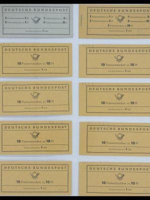 Postzegelverzameling 33951 Bundespost en Berlijn postzegelboekjes 1956-1980.