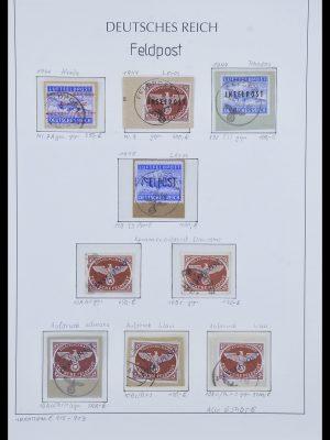 Postzegelverzameling 33965 Duitsland veldpost 1942-1945.