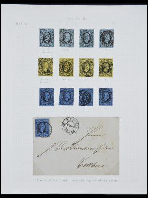 Postzegelverzameling 33966 Saksen 1851-1863.