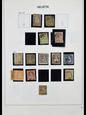 Postzegelverzameling 33990 Zwitserland 1854-1998.