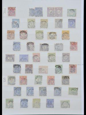 Postzegelverzameling 33992 Nederland kleinrondstempels.