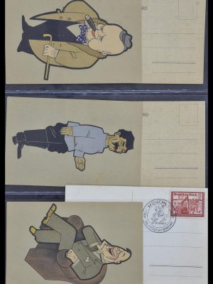 Postzegelverzameling 33995 Duitsland propaganda kaarten.