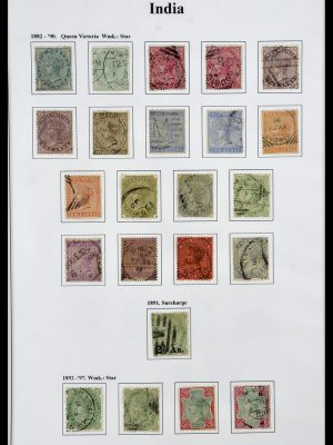 Postzegelverzameling 34010 India en Staten 1854-2018!