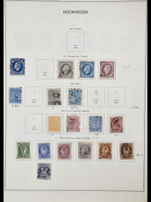 Postzegelverzameling 34031 Noorwegen 1856-1948.