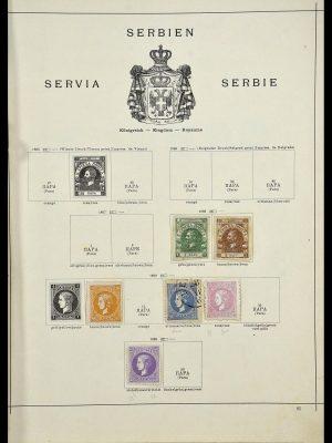 Postzegelverzameling 34033 Servië 1868-1945.