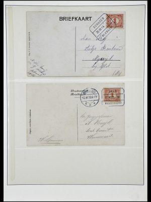 Postzegelverzameling 34036 Nederland treinstempels.
