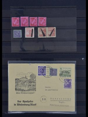 Postzegelverzameling 34039 Mecklenburg-Vorpommern 1945-1946.