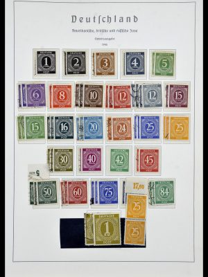 Postzegelverzameling 34053 Duitse Zones 1945-1949.