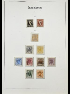 Postzegelverzameling 34066 Luxemburg 1852-2005.