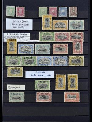 Postzegelverzameling 34067 Belgisch Congo 1885-1935.