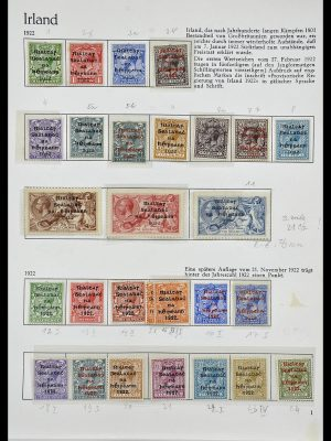 Postzegelverzameling 34074 Ierland 1922-1979.