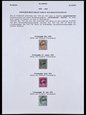 Postzegelverzameling 34076 Algerije voorafstempelingen 1924-1963.