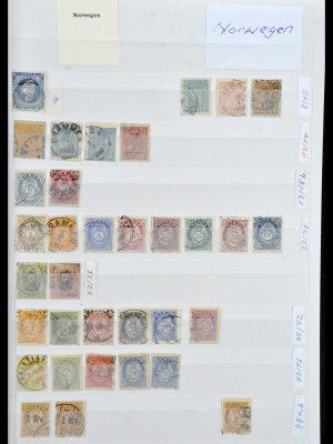 Postzegelverzameling 34086 Noorwegen 1856-1999.