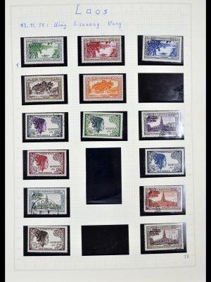 Postzegelverzameling 34092 Laos 1951-1972.