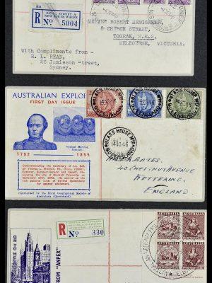 Foto van Postzegelverzameling 34118 Australië FDC's 1944-1952.
