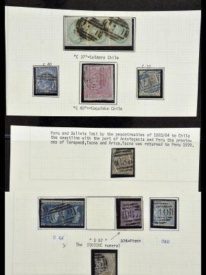 Postzegelverzameling 34125 Engeland used in Chili 1858-1878.