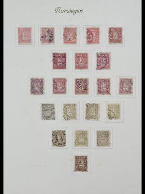 Postzegelverzameling 34154 Noorwegen port 1883-1973.