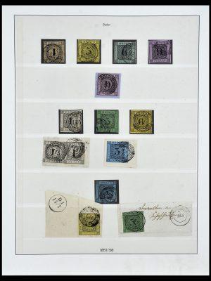Postzegelverzameling 34158 Oud Duitse Staten 1850-1870.