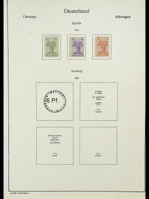 Postzegelverzameling 34162 Duitsland lokaal uitgaven 1945-1946.