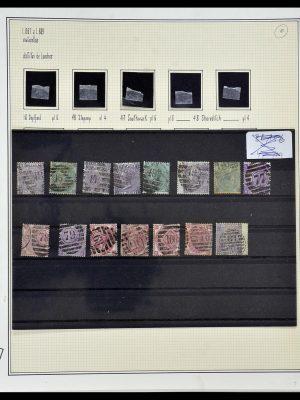 Postzegelverzameling 34170 Engeland 1867-1900.