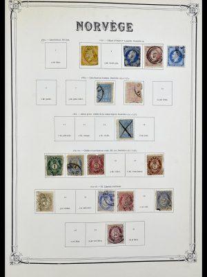 Postzegelverzameling 34177 Noorwegen 1856-1999.