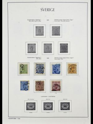 Postzegelverzameling 34186 Zweden 1858-1989.