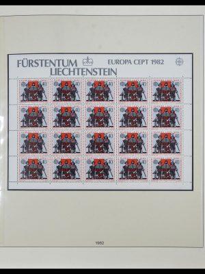 Postzegelverzameling 34187 Liechtenstein kleinbogen 1982-1995.