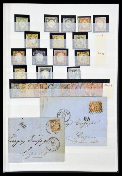 Postzegelverzameling 34206 Italië en gebieden 1861-2000.