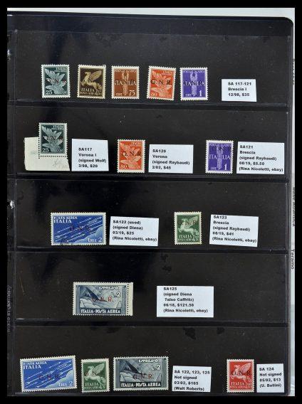 Postzegelverzameling 34227 Italië R.S.I. 1943-1945.