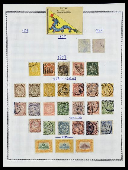 Postzegelverzameling 34248 China 1885-1981.