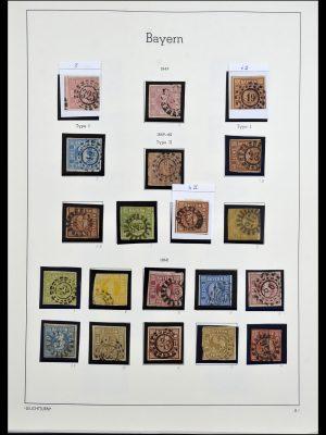 Foto van Postzegelverzameling 34287 Beieren 1849-1920.