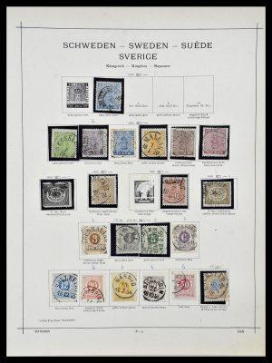 Foto van Postzegelverzameling 34299 Zweden 1855-1935.