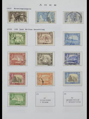 Foto van Postzegelverzameling 34323 Engelse koloniën George VI 1937-1952.