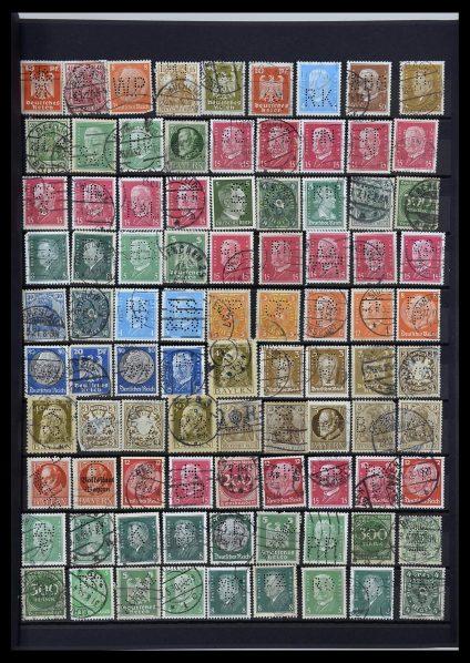 Foto van Postzegelverzameling 34329 Duitsland perfins 1900-1935.